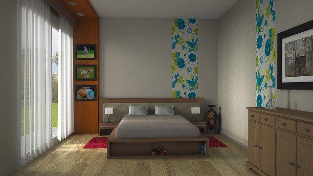 vyladěná ložnice
