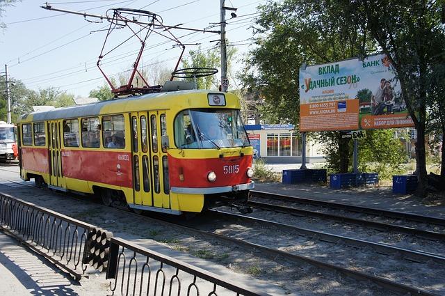 červená tramvaj